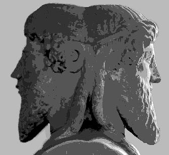 Bust of double-facing Janus