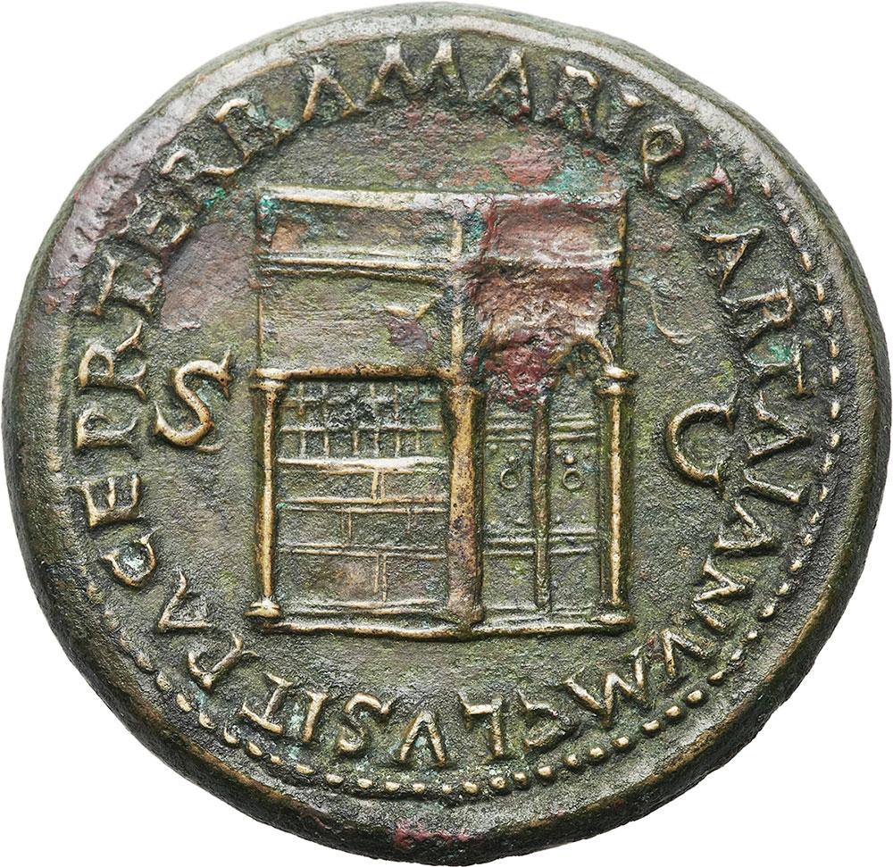 Reverse side of Neronian Sestertius - Temple of Janus